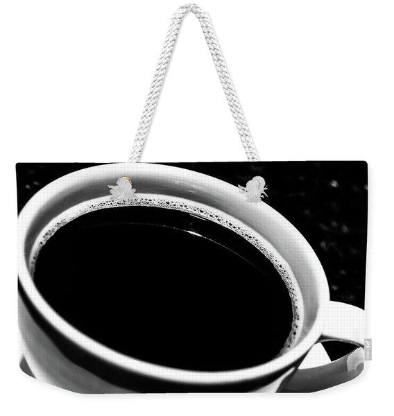 Black Coffee Weekender Tote Bag