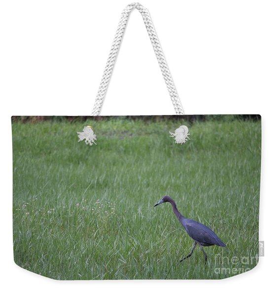 Black Egret Weekender Tote Bag