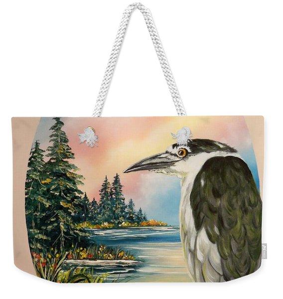 Flying Lamb Productions                     Black Crowned Heron Weekender Tote Bag