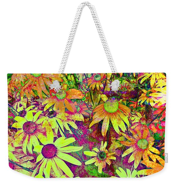Black-eyed Susan   Abstract  Weekender Tote Bag