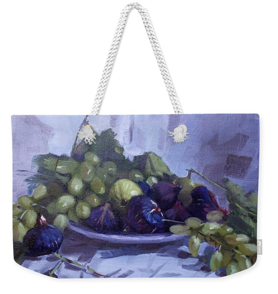 Black Figs And Grape Weekender Tote Bag