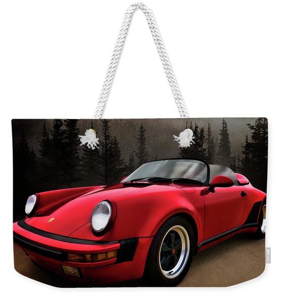 Black Forest - Red Speedster Weekender Tote Bag