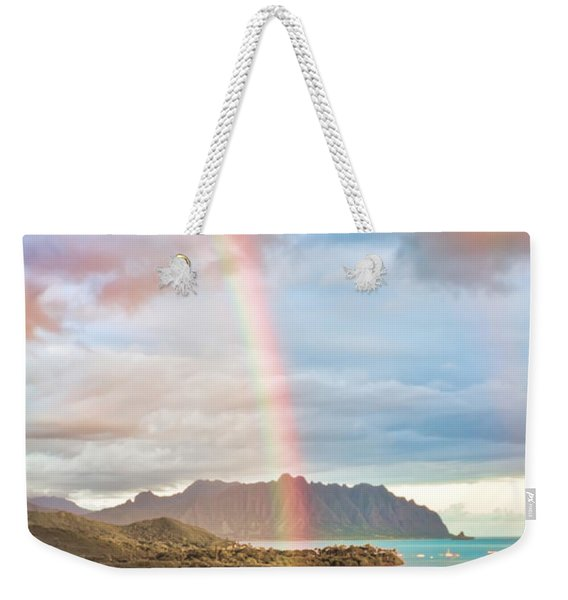 Black Friday Rainbow Weekender Tote Bag