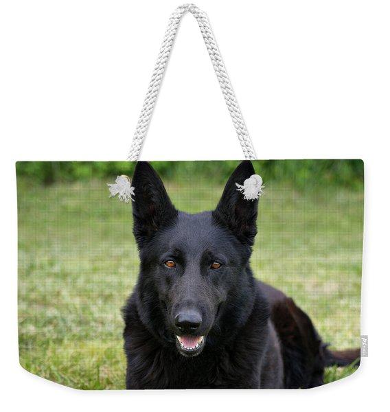 Black German Shepherd Dog II Weekender Tote Bag