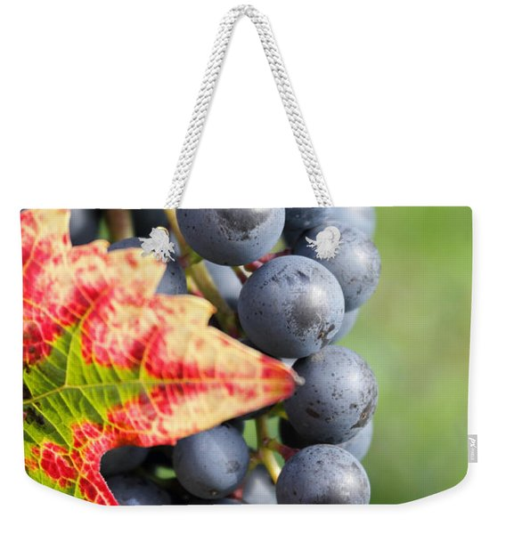 Black Grapes On The Vine Weekender Tote Bag