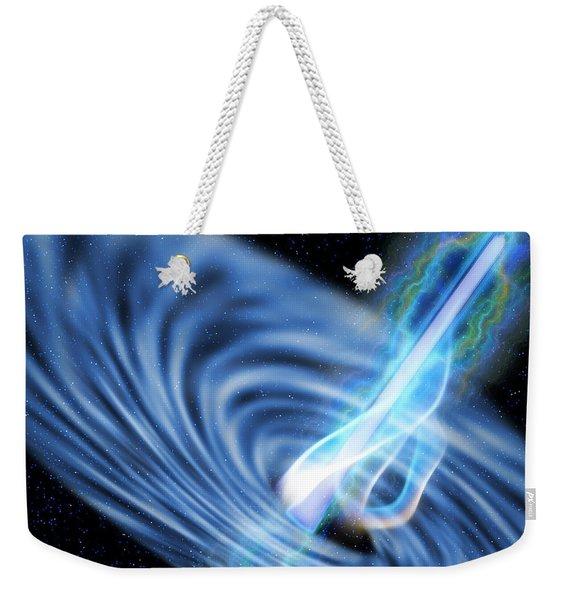 Black Hole Radiation Weekender Tote Bag