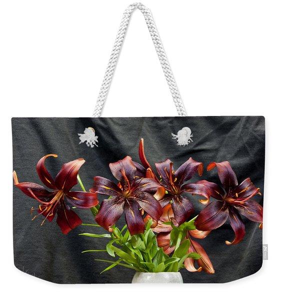 Black Lilies Weekender Tote Bag
