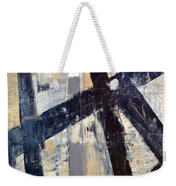 Black Lines Abstract 4.0 Weekender Tote Bag
