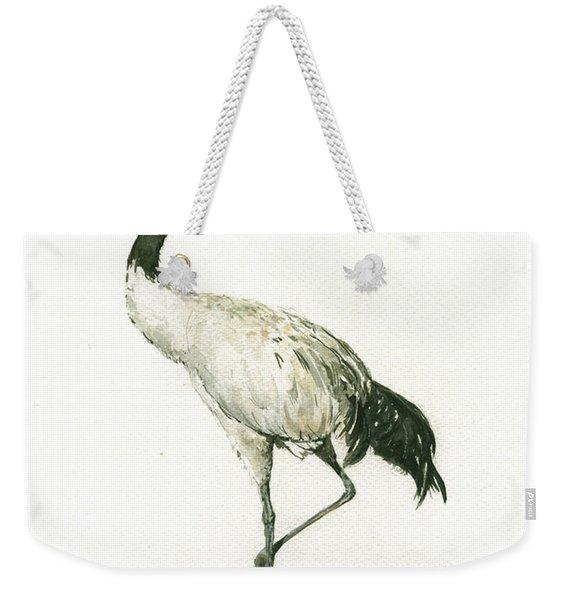 Black Necked Crane Weekender Tote Bag