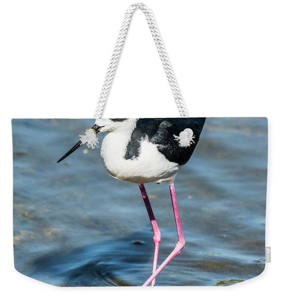 Black-necked Stilt Shows Legs Weekender Tote Bag