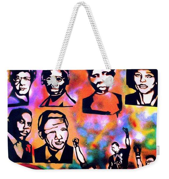 Black Revolution Weekender Tote Bag