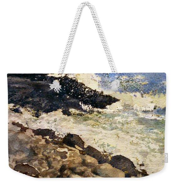Black Rocks - Lake Superior Weekender Tote Bag