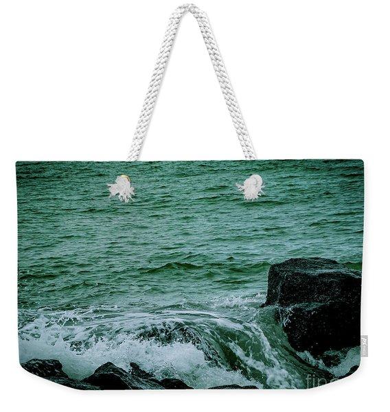 Black Rocks Seascape Weekender Tote Bag