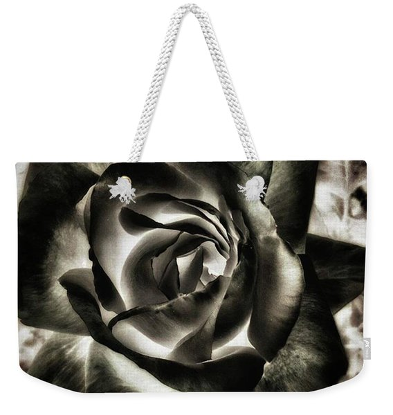 Weekender Tote Bag featuring the photograph Black Rose. Symbol Of Farewells by Mr Photojimsf