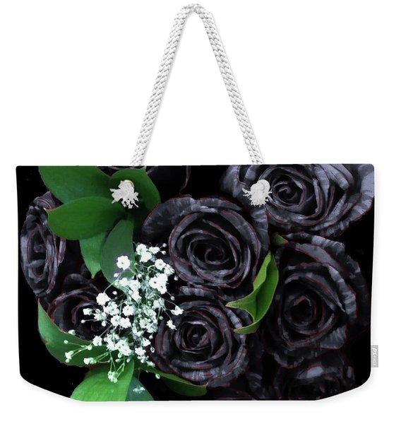 Black Roses Bouquet Weekender Tote Bag
