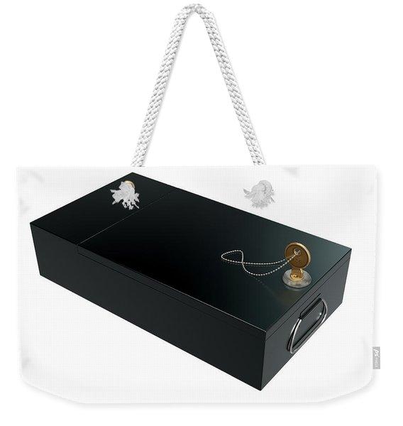 Black Safe Deposit Box Weekender Tote Bag