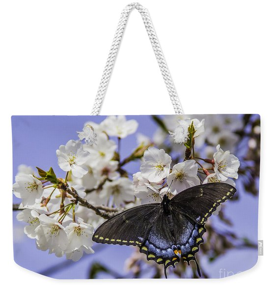Black Swallowtail Butterfly Weekender Tote Bag