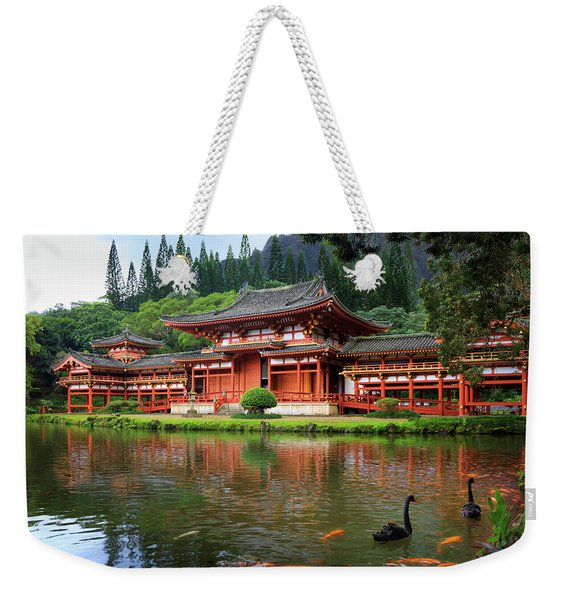 Black Swans At Byodo-in Weekender Tote Bag