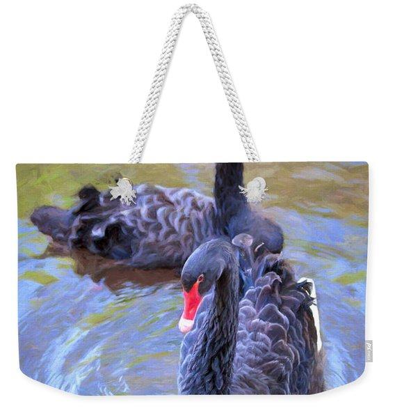 Black Swans Weekender Tote Bag