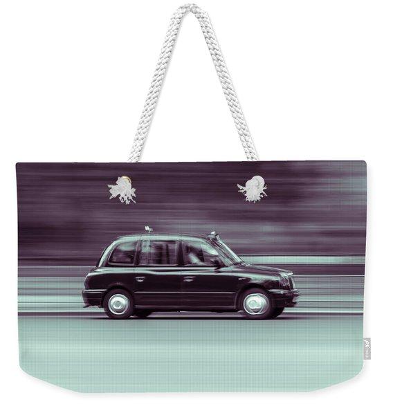 Black Taxi Bw Blur Weekender Tote Bag
