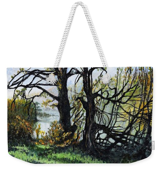Black Trees Entanglement Weekender Tote Bag
