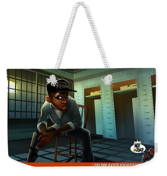 Weekender Tote Bag featuring the digital art Blacksteel In The Hour Of Chaos by Nelson  Dedos Garcia