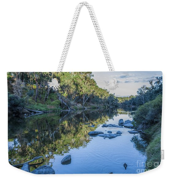 Blackwood River Rocks, Bridgetown, Western Australia Weekender Tote Bag