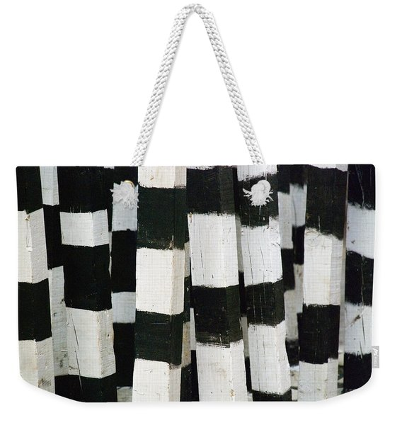 Weekender Tote Bag featuring the photograph Blanco Y Negro by Skip Hunt