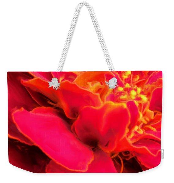 Blazing Pink Marigold Weekender Tote Bag