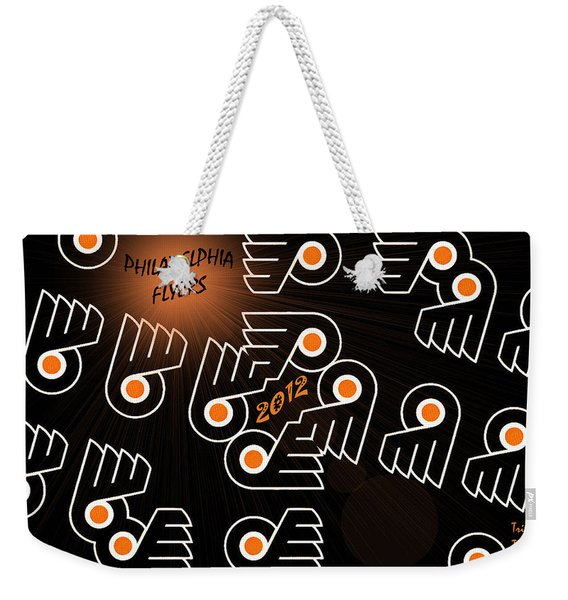 Bleeding Orange And Black - Flyers Weekender Tote Bag