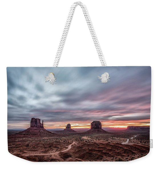 Blended Colors Over The Valley Weekender Tote Bag