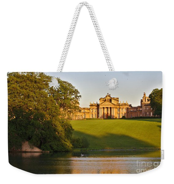 Weekender Tote Bag featuring the photograph Blenheim Palace And Lake by Jeremy Hayden