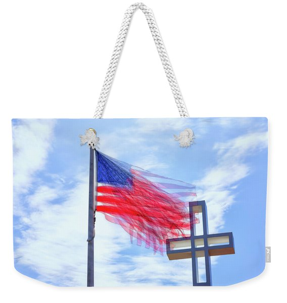 Bless The Usa Weekender Tote Bag