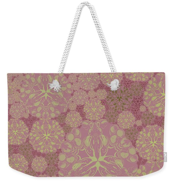 Blob Flower Painting #3 Pink Weekender Tote Bag