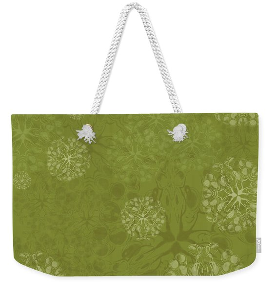 Blob Flower Painting #2 Yellow Green Weekender Tote Bag
