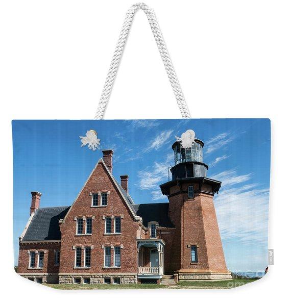 Block Island Southeast Light Historic Lighthouse Weekender Tote Bag