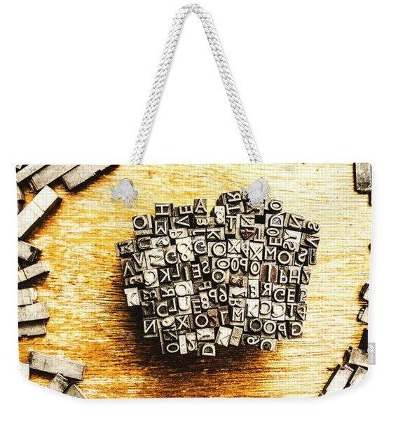 Block Of Communication Weekender Tote Bag
