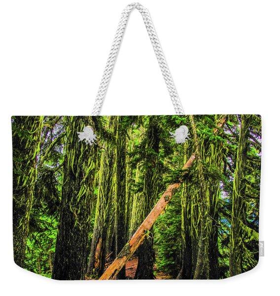 Blocked Trail Weekender Tote Bag