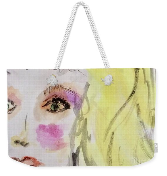 Weekender Tote Bag featuring the painting Blonde by Kim Nelson