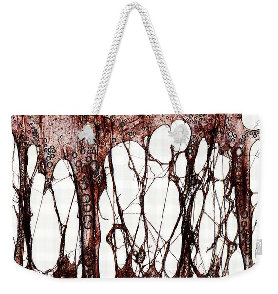 Weekender Tote Bag featuring the photograph Blood by Clayton Bastiani