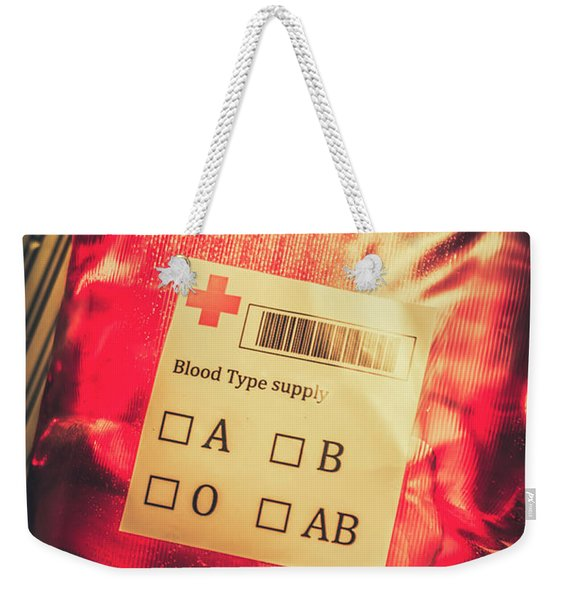 Blood Donation Bag Weekender Tote Bag