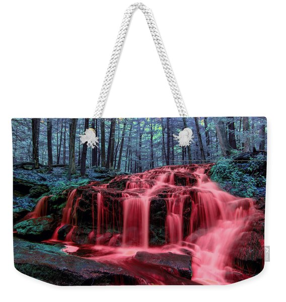 Weekender Tote Bag featuring the photograph Blood Falls 1 by Brian Hale