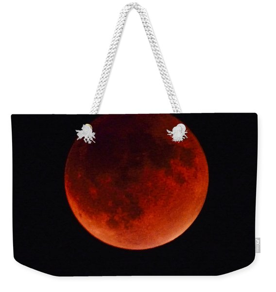 Blood Moon #4 Of Tetrad, Without Location Label Weekender Tote Bag