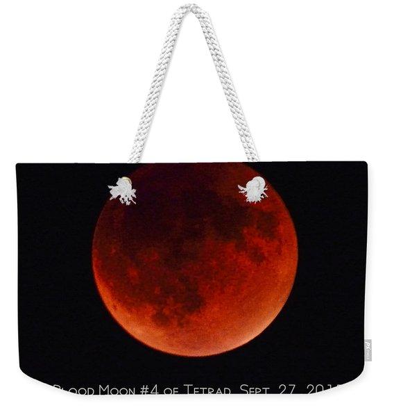 Blood Moon #4 Of 2014-2015 Tetrad Weekender Tote Bag