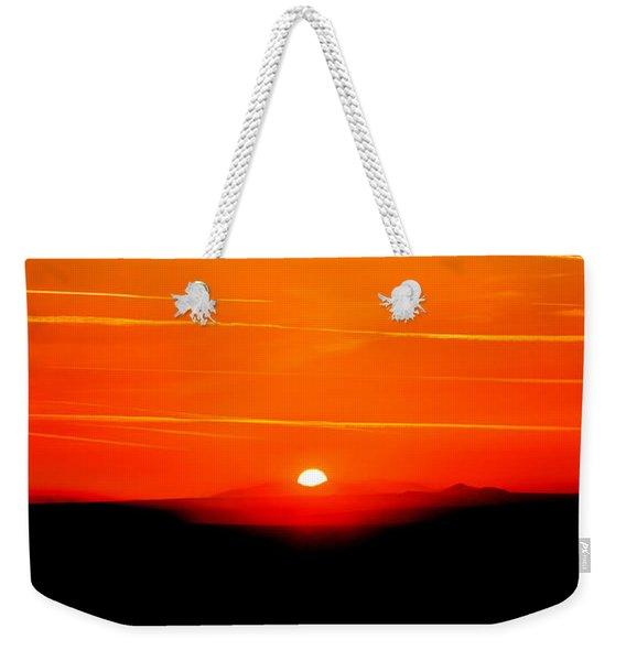 Blood Red Sunset Weekender Tote Bag