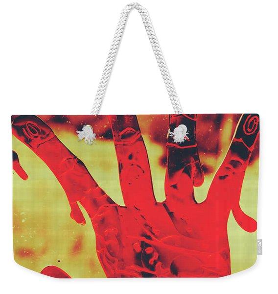 Bloody Halloween Palm Print Weekender Tote Bag