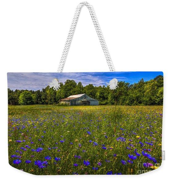 Blooming Country Meadow Weekender Tote Bag