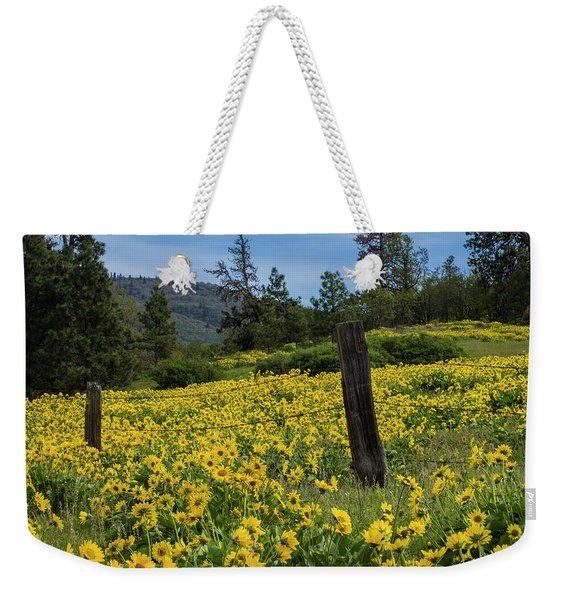 Blooming Fence Weekender Tote Bag