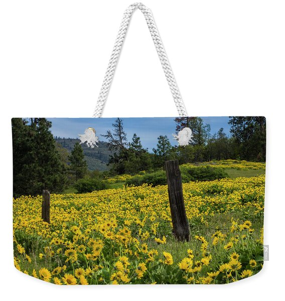 Blooming Fence Weekender Tote Bag