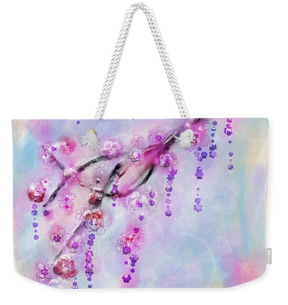 Blossom Cherry Branch Weekender Tote Bag